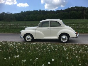 Beautiful 1965 C Reg White Morris Minor 1000 2door