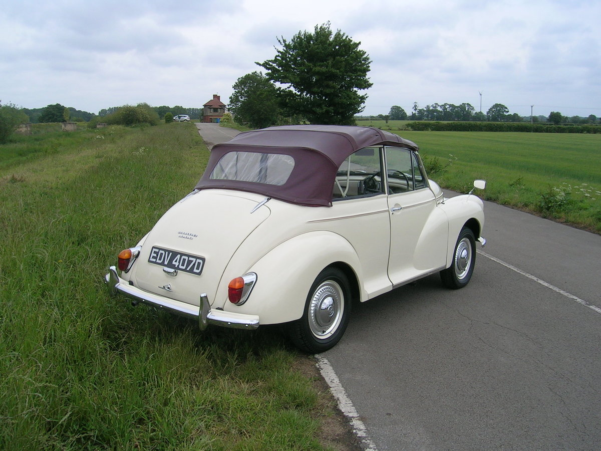 1966 Morris Minor 1000 Factory Convertible  For Sale (picture 4 of 6)