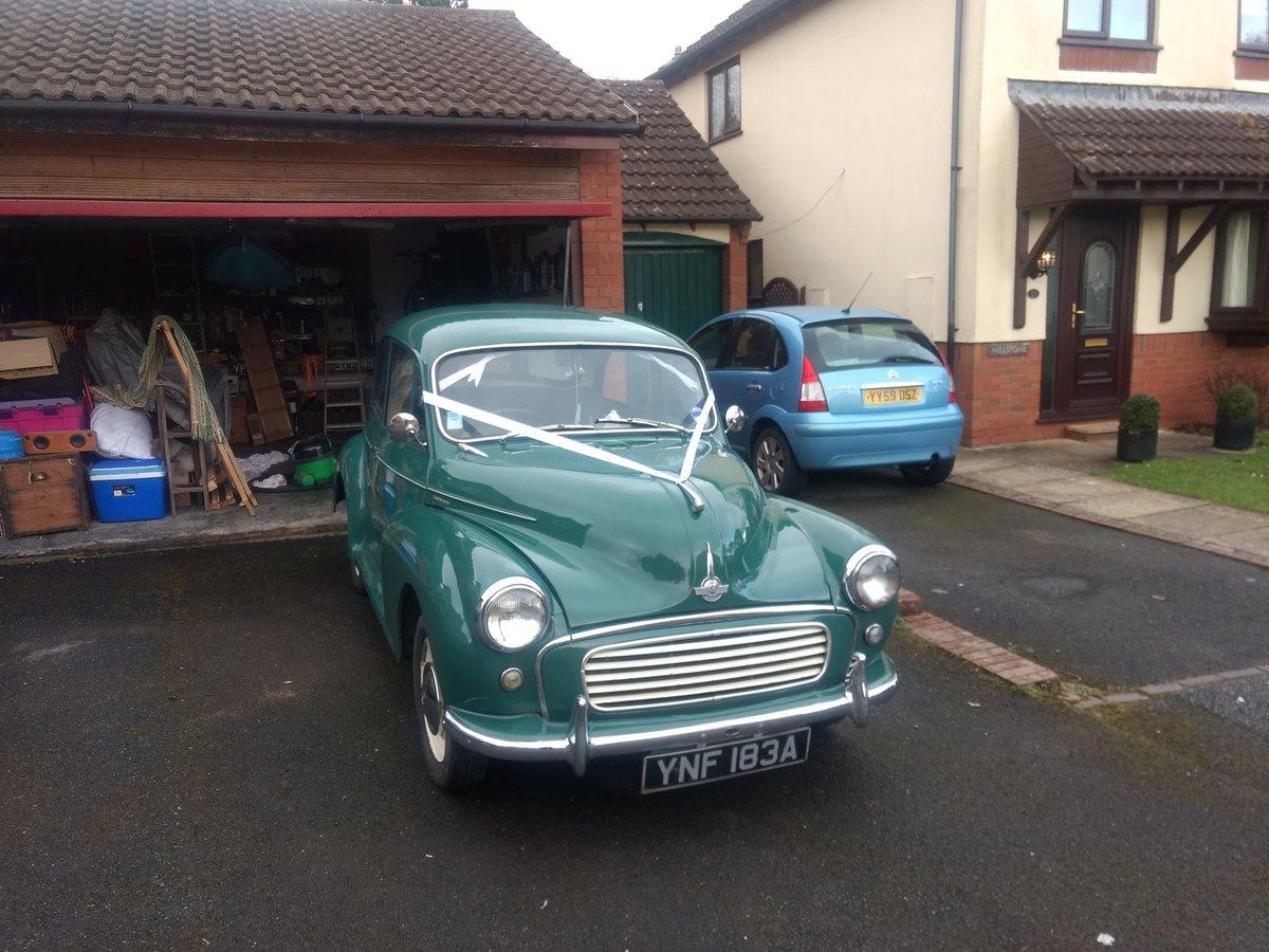 1963 Green Original Morris Minor For Sale (picture 5 of 6)