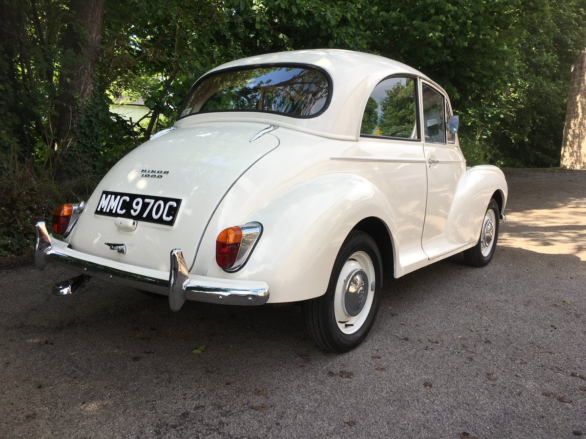 Beautiful 1965 C Reg White Morris Minor 1000 2door For Sale (picture 2 of 6)