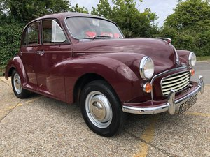 1968 Morris Minor. 1000cc Only 39k. 3 Owners. Amazing