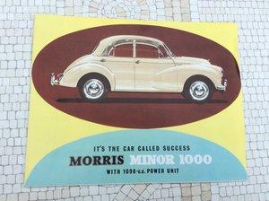 Morris Minor 1000 Sales Brochure