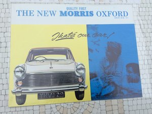 Picture of Morris Oxford Excellent sales brochure