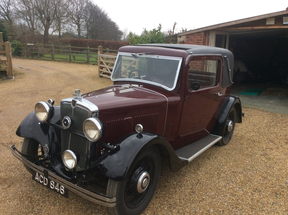1933 Morris 10/4  Doctors coupe For Sale (picture 1 of 4)
