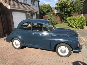 Morris Minor 1000 Trafalgar Blue 2 door Saloon