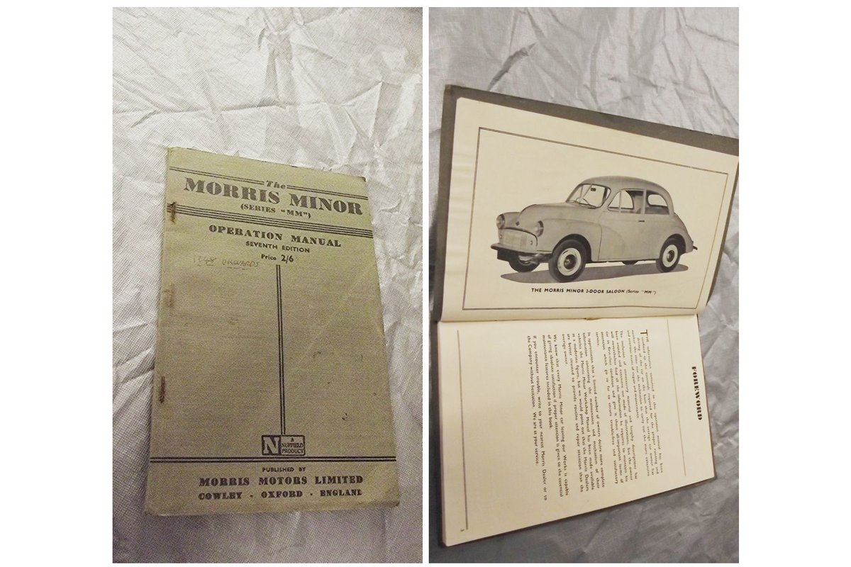 0000 MORRIS MINOR WORKSHOP MANUALS OPS MANUAL  For Sale (picture 4 of 6)