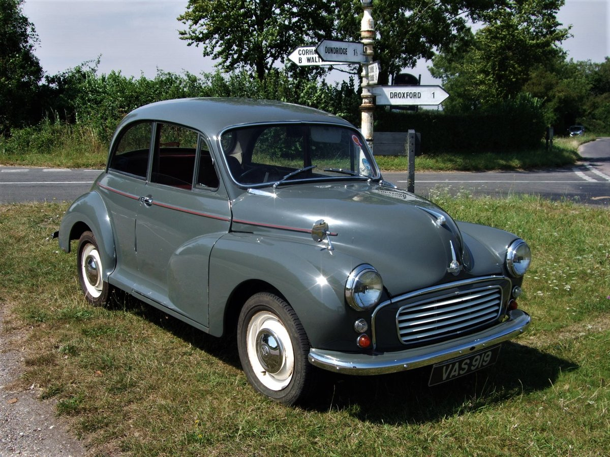 1961 Morris Minor 1000 Saloon 2dr in Yukon Grey SOLD SOLD (picture 1 of 6)
