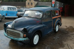 1968  MORRIS TRAVELLER TAX AND MOT EXEMPT COMES WITH NEW WOOD