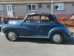 Morris minor 986cc convertible blue