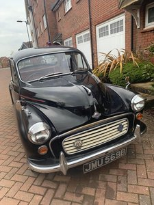 1964 Morris minor Black with red leather