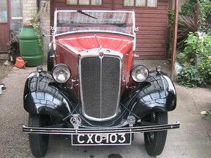 Morris 8 May 1936 Tourer 4 Seat.