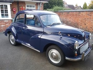 Morris minor original nice reg. Bargain.