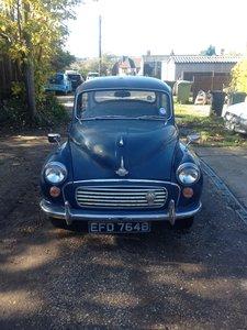 1964 Trafalgar blue Morris Minor 'Matilda'