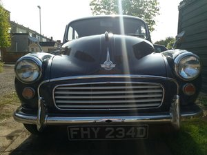 1966 Trafalgar Blue Saloon Morris 1000