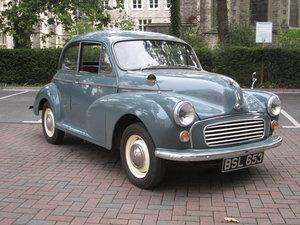 1957 Low Mileage Morris Minor Series 3 Exceptional. 12 months MOT For Sale