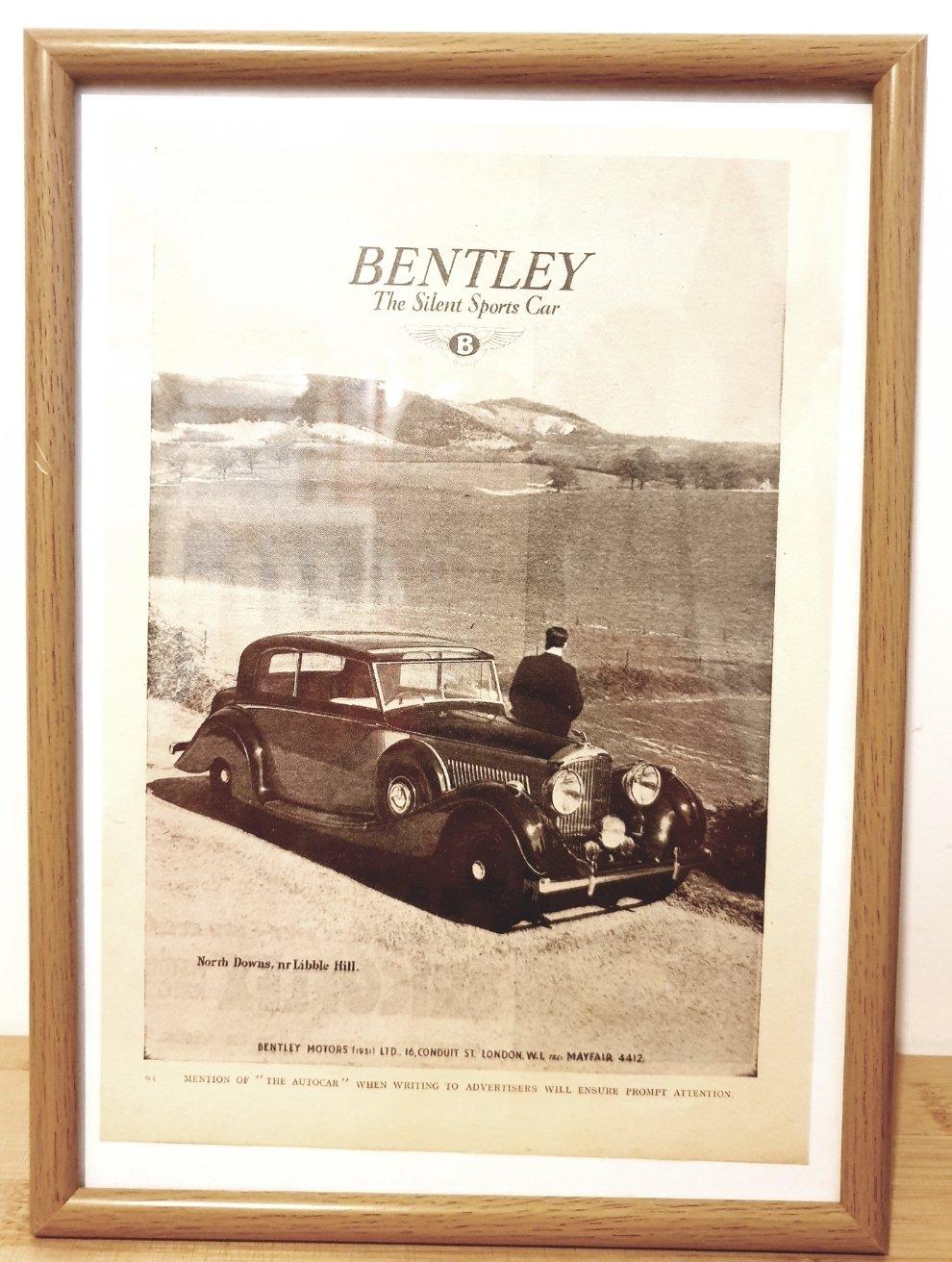 1968 Original 1940 Bentley Mark 5 Framed Advert  For Sale (picture 1 of 3)