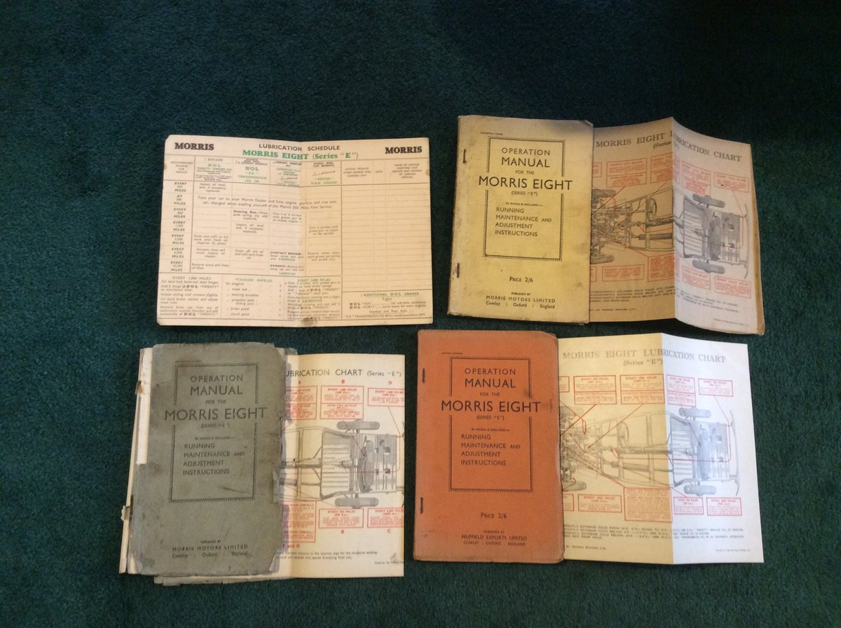 Operation manuals- for series 'e' For Sale (picture 1 of 1)