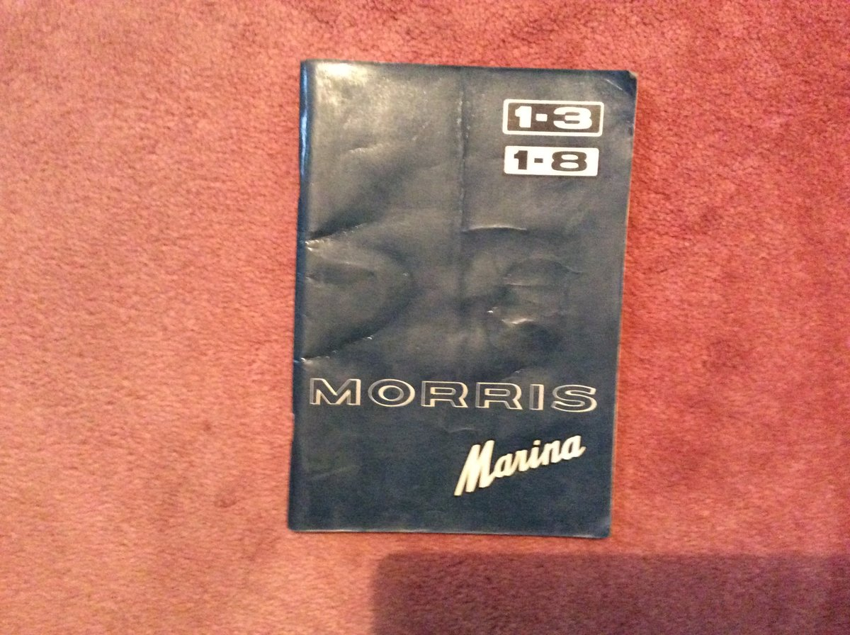 Morris Marina Handbook 1.3/1.8 For Sale (picture 1 of 5)