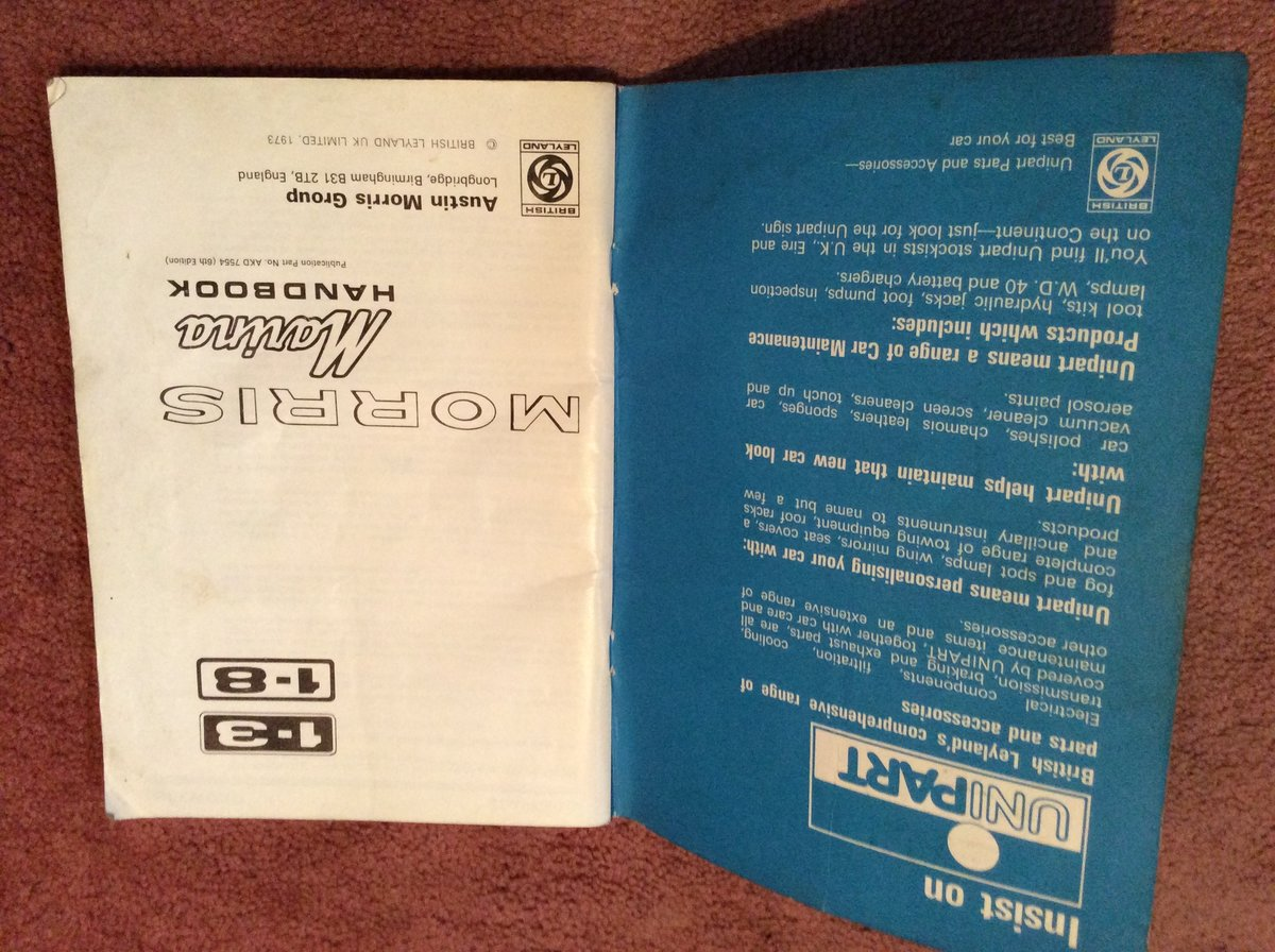 Morris Marina Handbook 1.3/1.8 For Sale (picture 2 of 5)