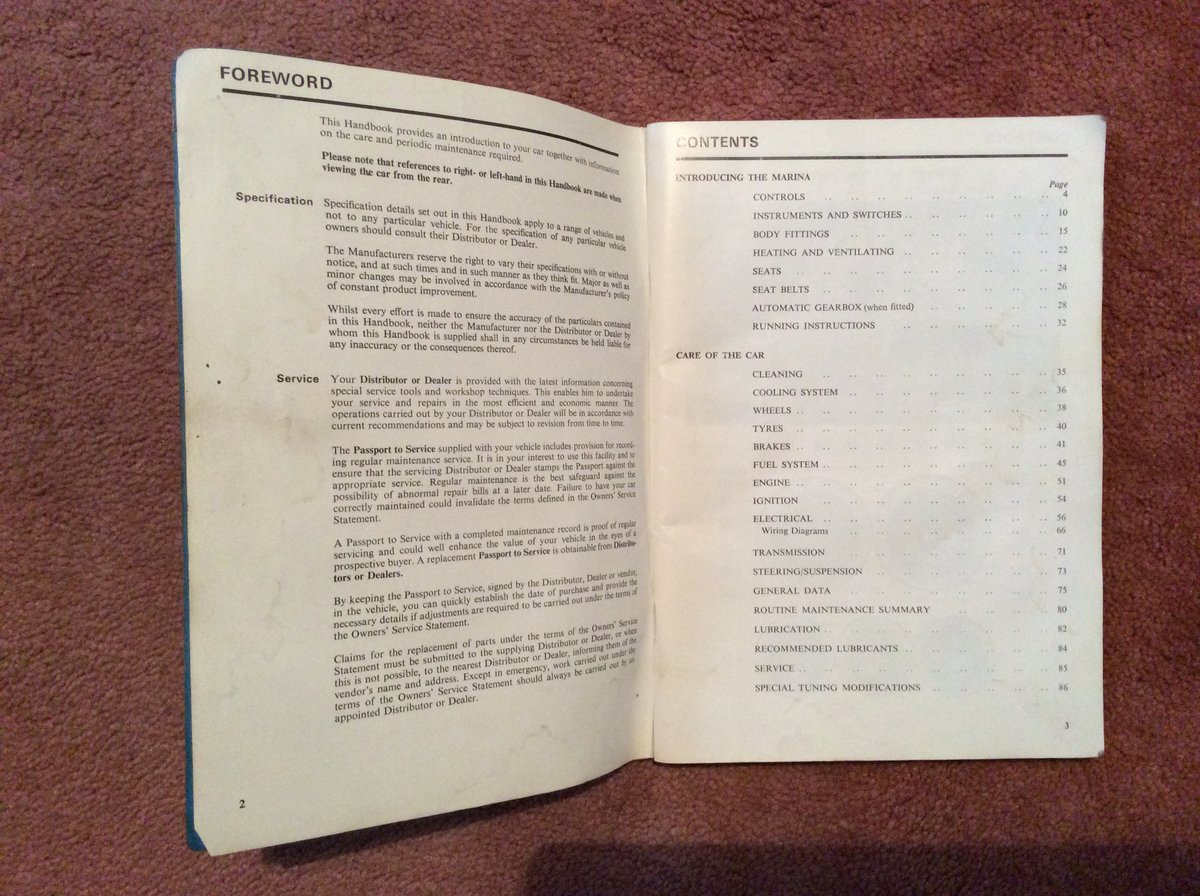 Morris Marina Handbook 1.3/1.8 For Sale (picture 3 of 5)