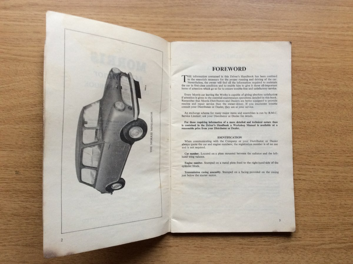 DRIVERS HANDBOOK FOR EARLY MINI For Sale (picture 2 of 3)
