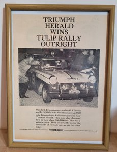 Original 1961 Triumph Herald Framed Advert