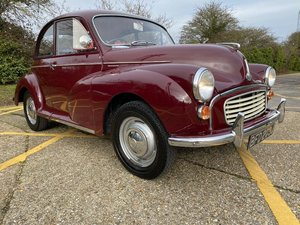 Picture of 1970 Morris Minor. Maroon with Chrokee trim. Original For Sale