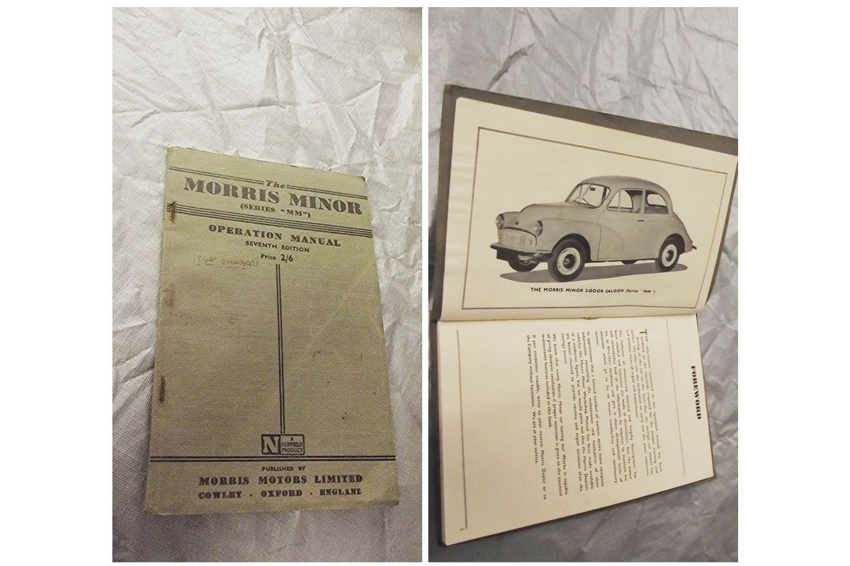 0000 MORRIS MINOR WORKSHOP MANUALS OPS MANUAL For Sale (picture 4 of 12)