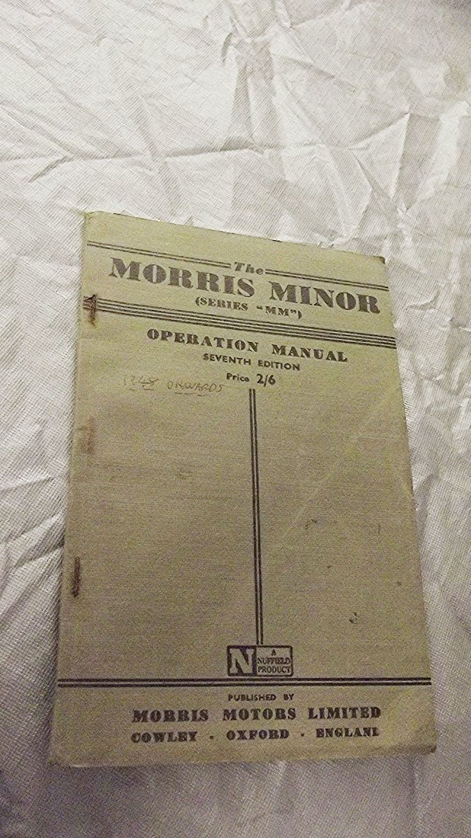 0000 MORRIS MINOR WORKSHOP MANUALS OPS MANUAL For Sale (picture 11 of 12)