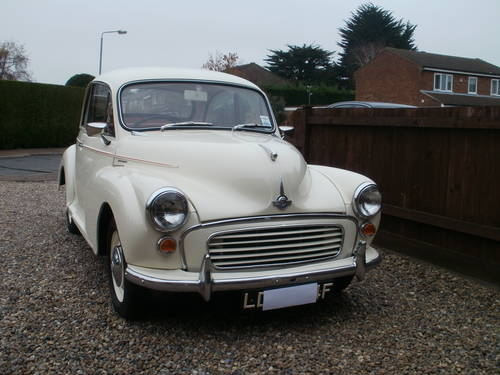 CLASSIC MORRIS MINOR WING PIPING IN OLD ENGLISH WHITE