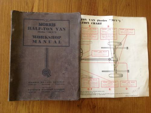 1950 Morris commercial workshop manual For Sale (picture 1 of 1)