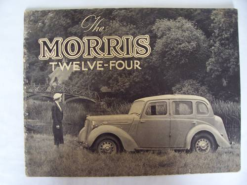 MORRIS TWELVE-FOUR Series 3 1937 SALES BROCHURE For Sale (picture 1 of 6)