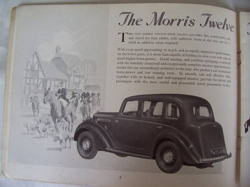 MORRIS TWELVE-FOUR Series 3 1937 SALES BROCHURE For Sale (picture 2 of 6)