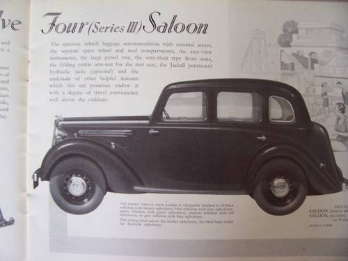 MORRIS TWELVE-FOUR Series 3 1937 SALES BROCHURE For Sale (picture 3 of 6)