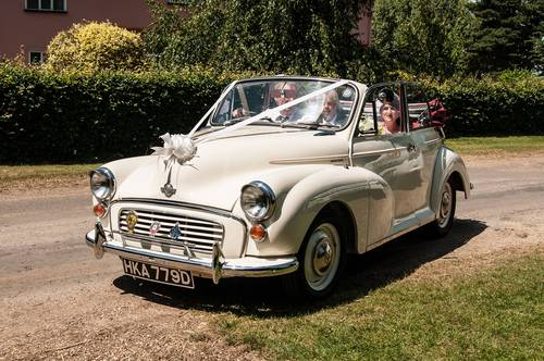 1966 MORRIS MINOR CONVERTIBLE WEDDING CAR IN SUFFOLK For Hire (picture 1 of 6)