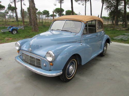 1953 Morris Minor Blue Cabrio For Sale (picture 1 of 6)