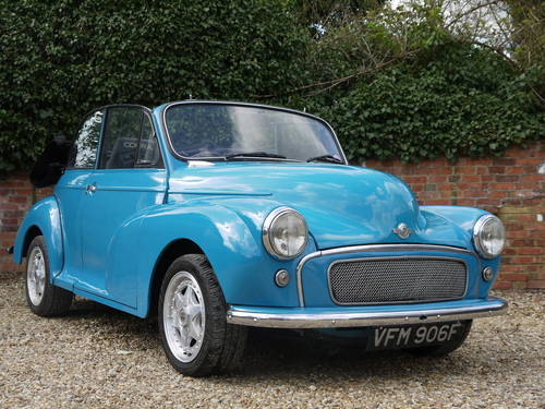 1968 MORRIS MINOR TWIN-CAM CONVERTIBLE - UNIQUE !! SOLD (picture 1 of 6)