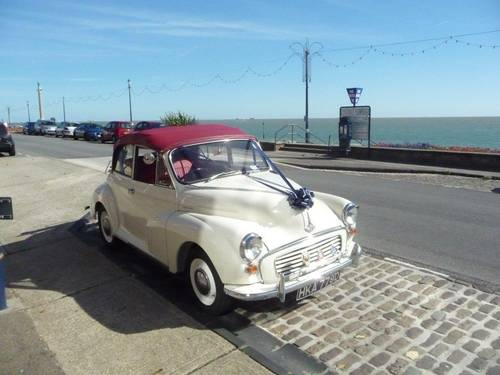 1966 MORRIS MINOR CONVERTIBLE WEDDING CAR IN SUFFOLK For Hire (picture 3 of 6)