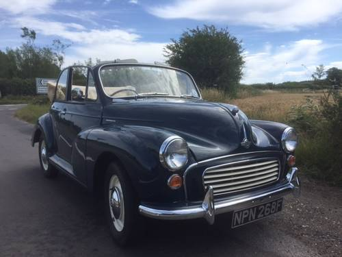 1968 Morris Minor 1000 Convertible for sale in Hampshire... SOLD (picture 1 of 6)