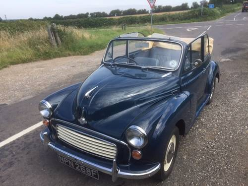1968 Morris Minor 1000 Convertible for sale in Hampshire... SOLD (picture 5 of 6)