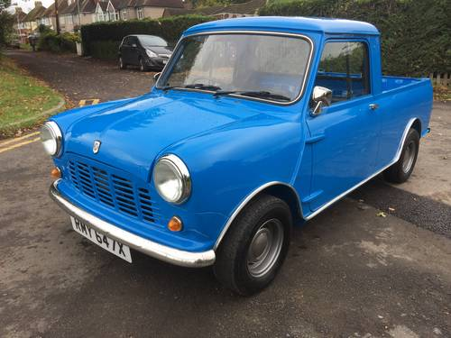 Austin/Morris Mini Pickup 1981 X Blue Superb £18,995 For Sale (picture 2 of 6)