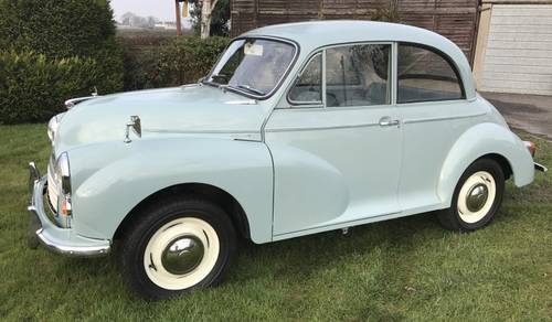 1969 Morris Minor 1000 Saloon to be sold on October 28th SOLD by Auction (picture 1 of 5)