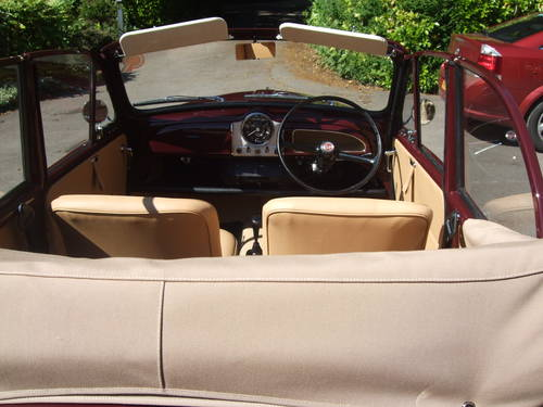 1967 Maroon Replica Convertible with Biscuit Trim For Sale (picture 5 of 6)