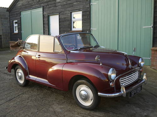 1966 MORRIS MINOR FACTORY TOURER - GREAT VALUE CONVERTIBLE !! SOLD (picture 1 of 6)