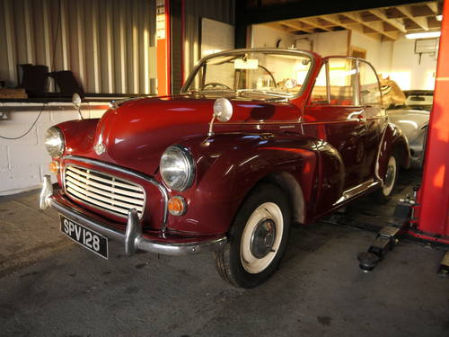 1966 MORRIS MINOR FACTORY TOURER - GREAT VALUE CONVERTIBLE !! SOLD (picture 6 of 6)