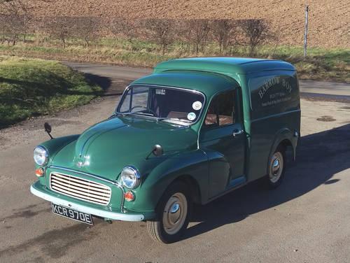 1967 Morris Minor 1000 Van SOLD (picture 1 of 6)