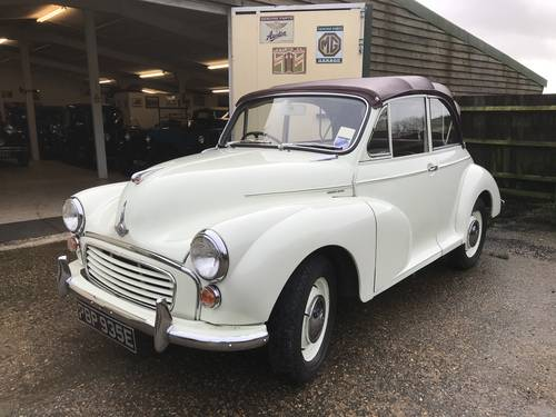 Now Reserved 1967 Morris Minor 1000 Convertible  SOLD (picture 1 of 6)