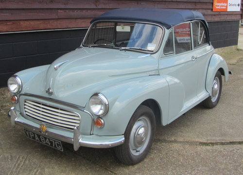 1968 Morris Minor Convertible For Sale SOLD (picture 1 of 6)