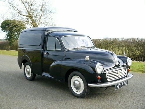 1969 MORRIS MINOR 1000 Van  SOLD (picture 3 of 6)