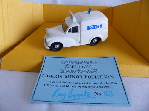 1960 MORRIS MINOR POLICE VAN LTD ED RAY BYGATE MODELS For Sale (picture 1 of 6)